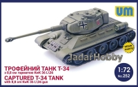 UM 252 1/72 Captured T34 tank with 8,8cm kWk 36l/36 gun