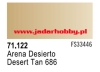 71122 Vallejo Model Air Desert Tan 686 (farba akryl 17ml)