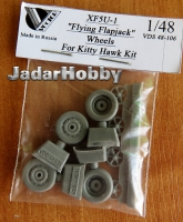 "Vector VDS48-106 1/48 XF5U-1 ""Flying Flapjack"" wheels for Kitty Hawk"