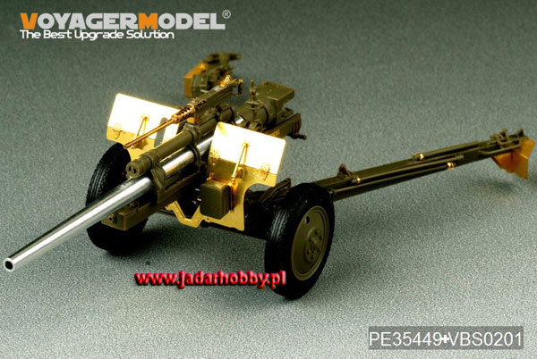 Voyager PE35449 US 3inch M5 ATG/w M1 or 105mm Howitzer M2A1Carriage 2in1 (1:35)