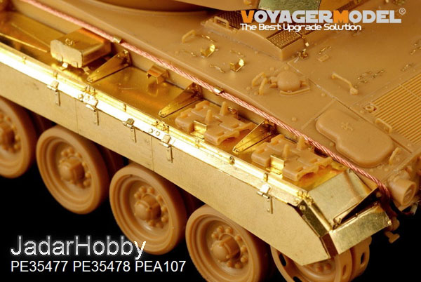 Voyager PE35478 M24 Chaffee (Early Prod) Light Tank Fenders and Skirts (1:35)