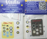 Yahu Models YMS3203 1/32 Yak Fuel Gauges
