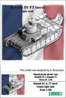 Zebrano 100061 1/100 Renault D1 w. FT turret French light tank