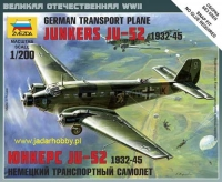 Zvezda 6139 German Transport Plane Junkers Ju-52 (1/200)