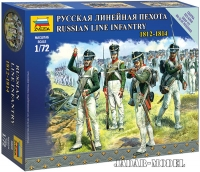 Zvezda 6808 1/72 Russian Line Infantry 1812-1814 - Snap Fit