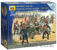 Zvezda 6810 1/72 French Foot Artillery 1812-1814 - Snap Fit